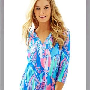 Lilly Pulitzer Dress Out to Sea Bay Blue T Shirt